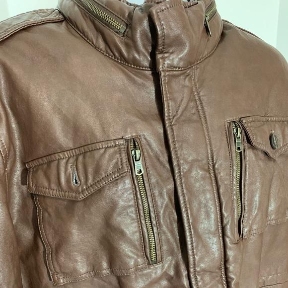Tommy Hilfiger Other - Vintage Brown Tommy Hilfiger Leather Jacket XXL